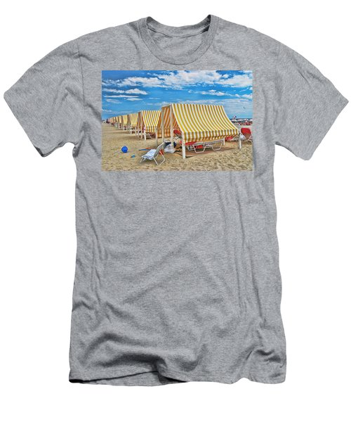 Cape May Cabanas 2 Men's T-Shirt (Athletic Fit)