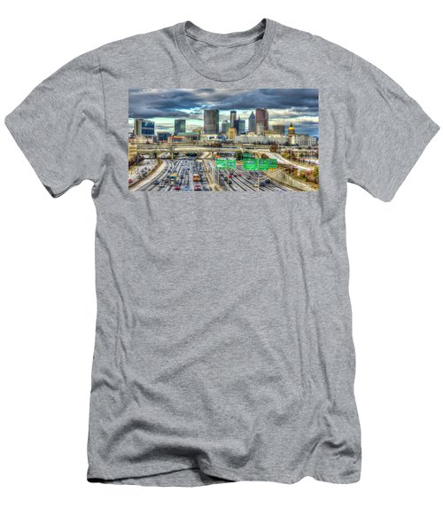 Capital Of The South Atlanta Skyline Cityscape Art Men's T-Shirt (Athletic Fit)