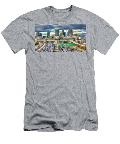 Capital Of The South Atlanta Skyline Cityscape Art Men's T-Shirt (Athletic Fit)