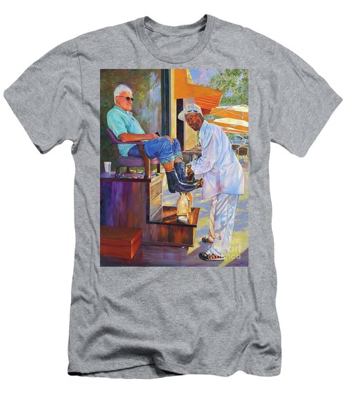 Captain Shoe Shine Men's T-Shirt (Athletic Fit)
