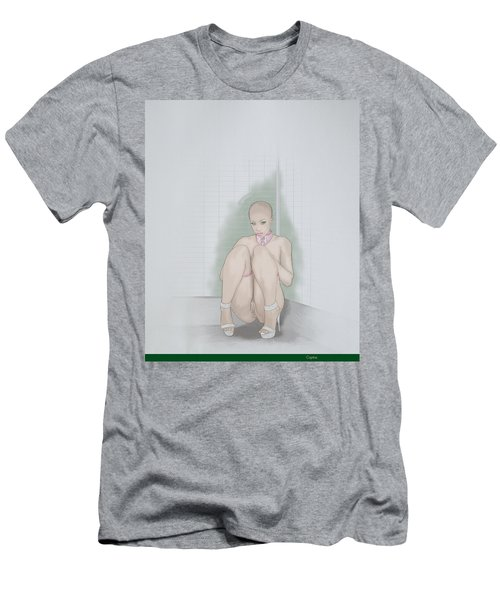Men's T-Shirt (Slim Fit) featuring the mixed media Captive by TortureLord Art