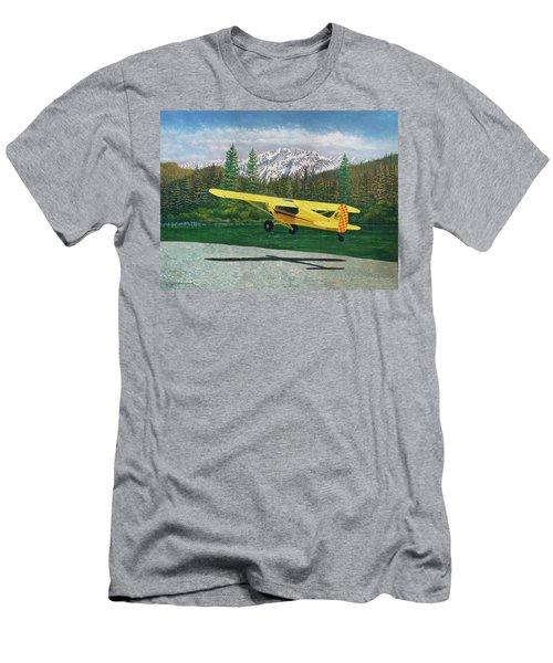 Carbon Cub Riverbank Takeoff Men's T-Shirt (Athletic Fit)