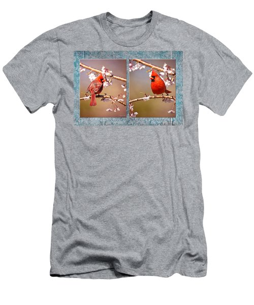 Men's T-Shirt (Athletic Fit) featuring the photograph Cardinal Collage by Angel Cher