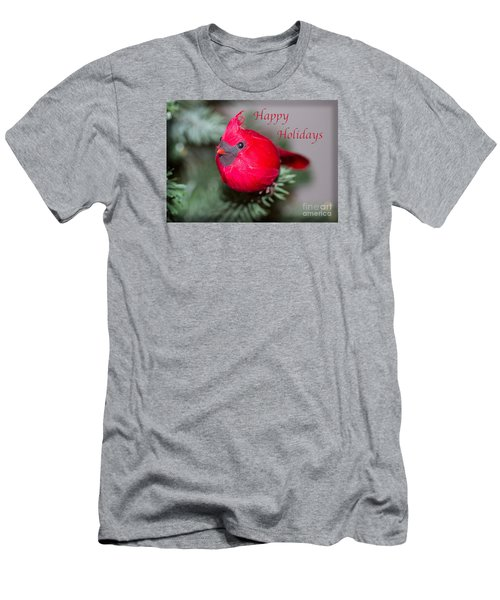 Cardinal Happy Holidays Men's T-Shirt (Athletic Fit)