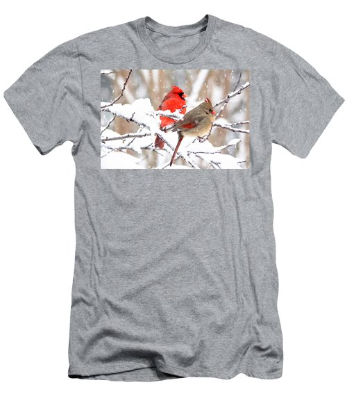 Cardinals In The Winter Men's T-Shirt (Athletic Fit)