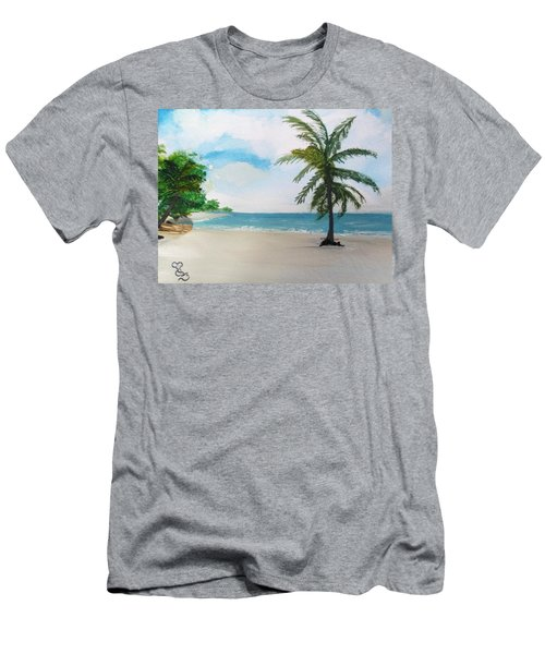 Caribbean Beach Men's T-Shirt (Athletic Fit)