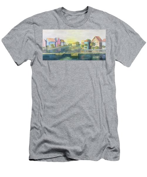 Men's T-Shirt (Athletic Fit) featuring the painting Caribbean Morning  by Marlene Book