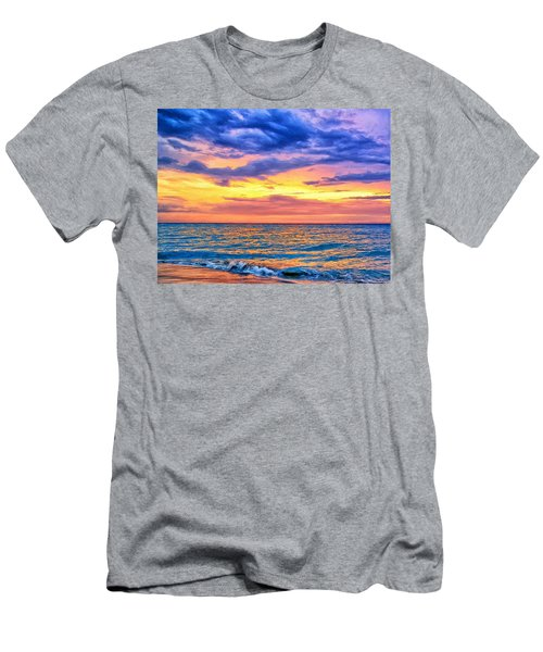 Caribbean Sunset Men's T-Shirt (Athletic Fit)
