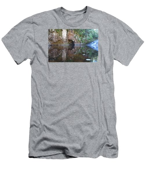 Men's T-Shirt (Slim Fit) featuring the photograph Carlson Creek Falls by Sandra Updyke