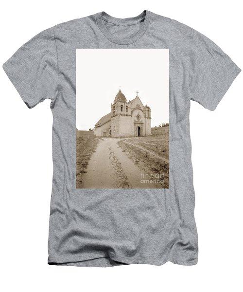 Carmel Mission South Side Circa 1915 Men's T-Shirt (Athletic Fit)