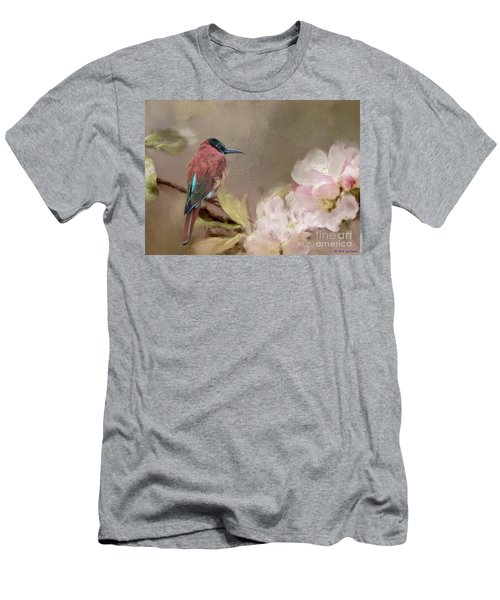 Carmine Bee-eater Men's T-Shirt (Slim Fit) by Eva Lechner