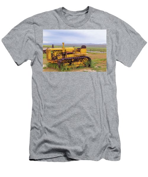 Men's T-Shirt (Slim Fit) featuring the photograph Carrizo Plain Bulldozer by Marc Crumpler