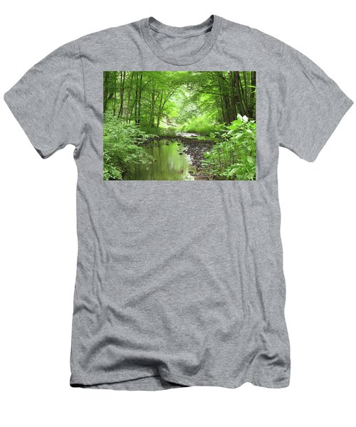 Men's T-Shirt (Slim Fit) featuring the photograph Carver Creek by Kimberly Mackowski