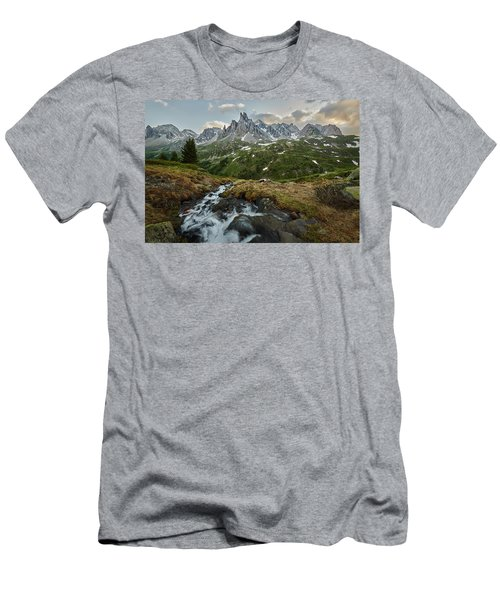 Cascade In The Alps Men's T-Shirt (Athletic Fit)
