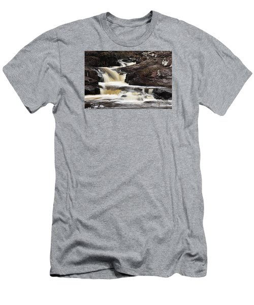 Men's T-Shirt (Slim Fit) featuring the photograph Cascade On The Two Island River by Larry Ricker