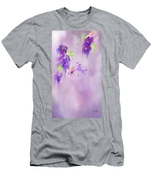 Cascading Orchids Men's T-Shirt (Slim Fit) by Colleen Taylor