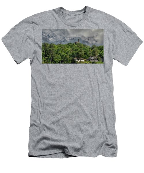 Men's T-Shirt (Athletic Fit) featuring the photograph Casco Castle 5733 by Guy Whiteley