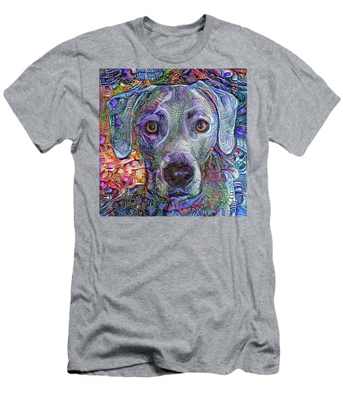 Cash The Blue Lacy Dog Closeup Men's T-Shirt (Athletic Fit)
