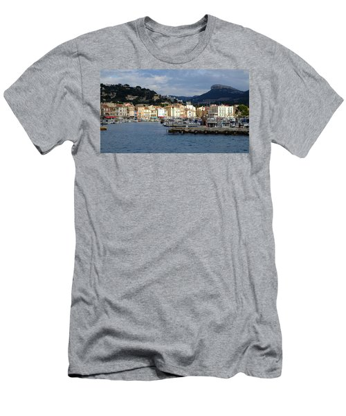 Men's T-Shirt (Athletic Fit) featuring the photograph Cassis Town And Harbor by August Timmermans