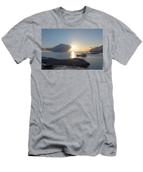 Cast A Giant Shadow... Reine Lofoten Men's T-Shirt (Athletic Fit)