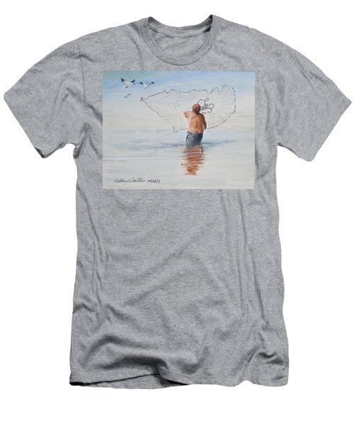 Cast Net Fishing Men's T-Shirt (Athletic Fit)