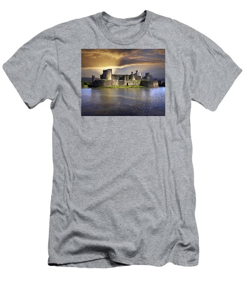 Castle At Dawn Men's T-Shirt (Athletic Fit)