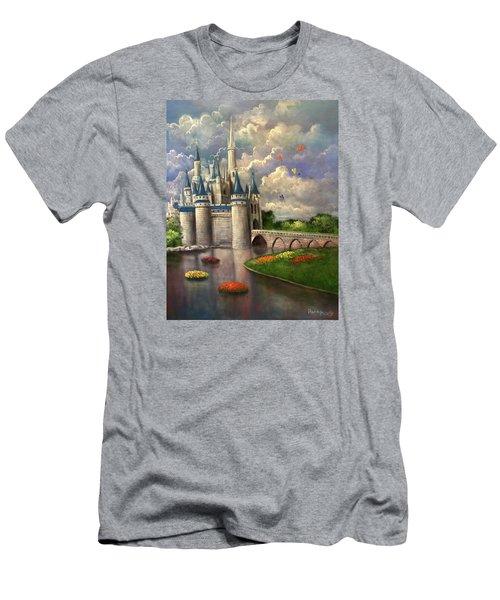 Castle Of Dreams Men's T-Shirt (Slim Fit) by Randy Burns