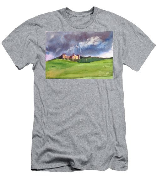 Castle Under Clouds Men's T-Shirt (Athletic Fit)