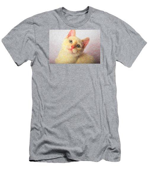 Cat Men's T-Shirt (Slim Fit) by Andre Faubert