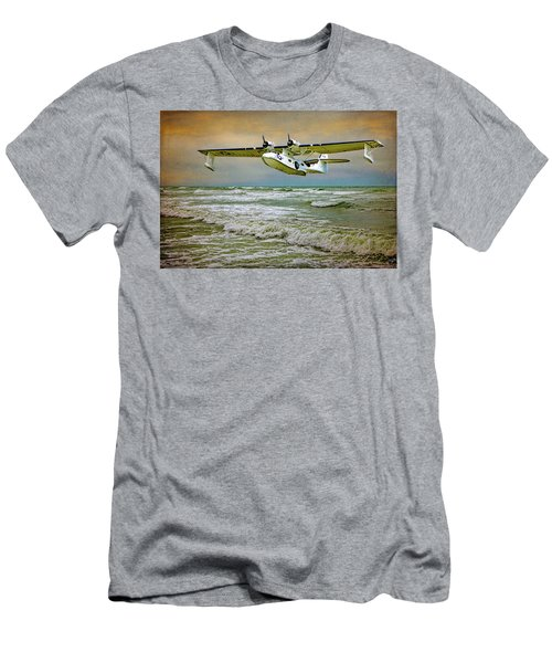 Men's T-Shirt (Athletic Fit) featuring the photograph Catalina Flying Boat by Chris Lord