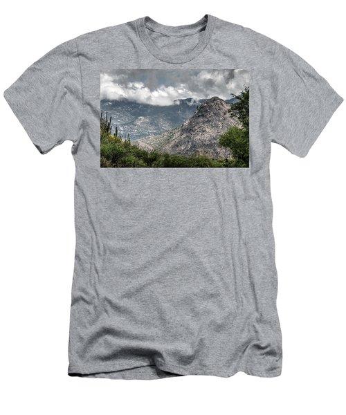 Catalina Mountains Men's T-Shirt (Slim Fit) by Tam Ryan