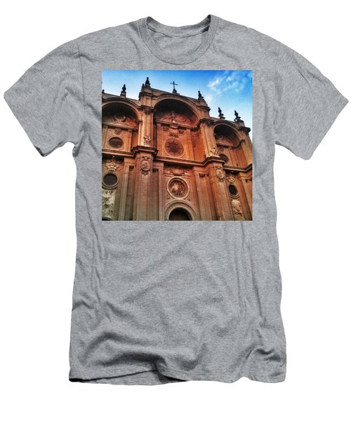 Catedral De #granada View From Plaza Men's T-Shirt (Athletic Fit)