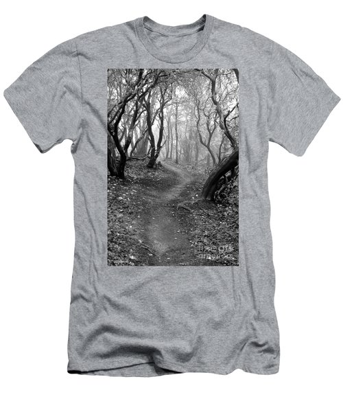 Cathedral Hills Serenity In Black And White Men's T-Shirt (Athletic Fit)