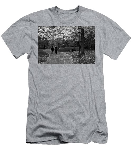 Cathedral Park In Fall Bw Men's T-Shirt (Athletic Fit)