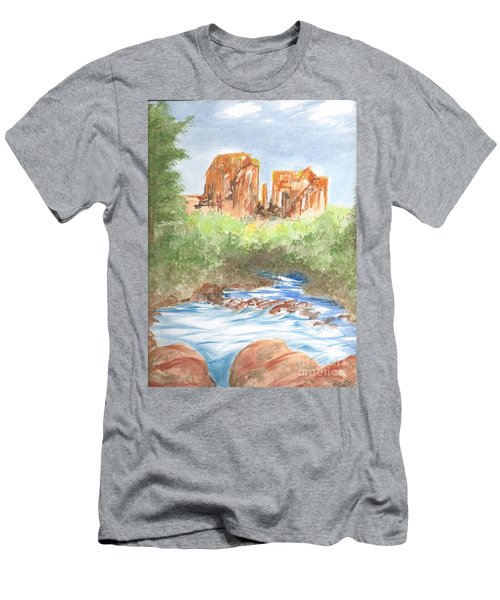 Cathedral Rock 2,  Sedona, Az. Men's T-Shirt (Athletic Fit)
