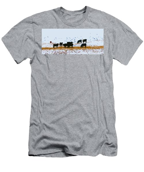 Cattle And Birds Men's T-Shirt (Athletic Fit)