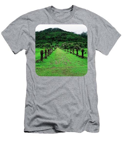 Causeway To Wat Phou Men's T-Shirt (Athletic Fit)