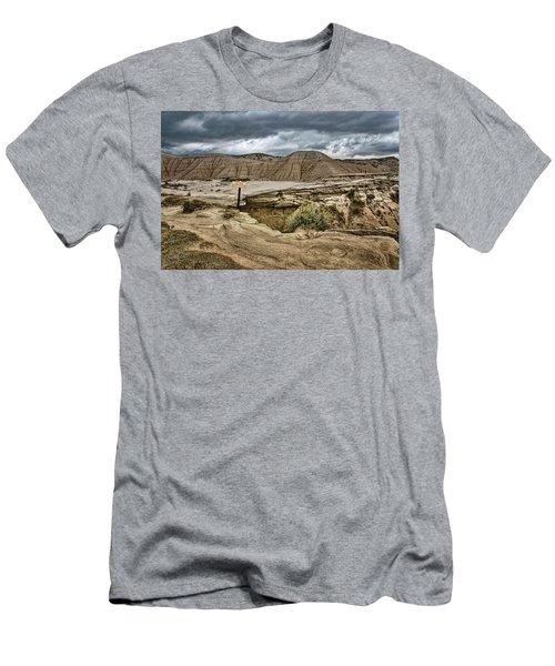 Caution - Steep Cliffs - Toadstool Geologic Park Men's T-Shirt (Athletic Fit)