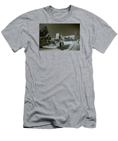 Cave Of The Patriarchs Back Yard Men's T-Shirt (Athletic Fit)