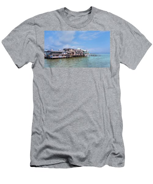 Men's T-Shirt (Athletic Fit) featuring the photograph Cedar Key by John M Bailey