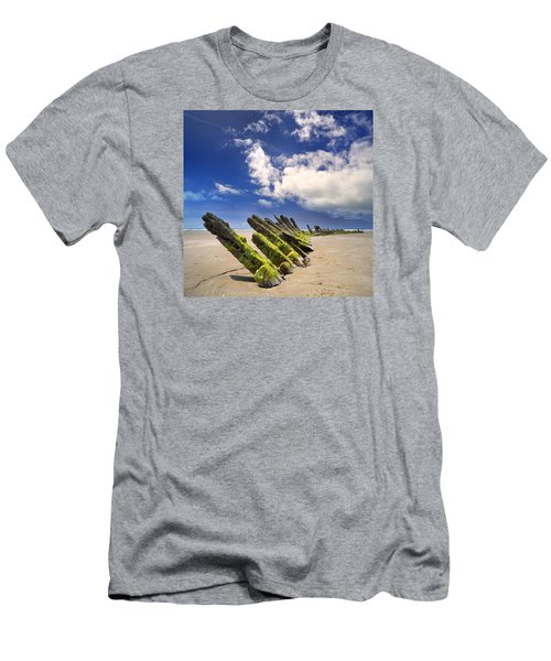Cefn Sidan Beach 3 Men's T-Shirt (Athletic Fit)