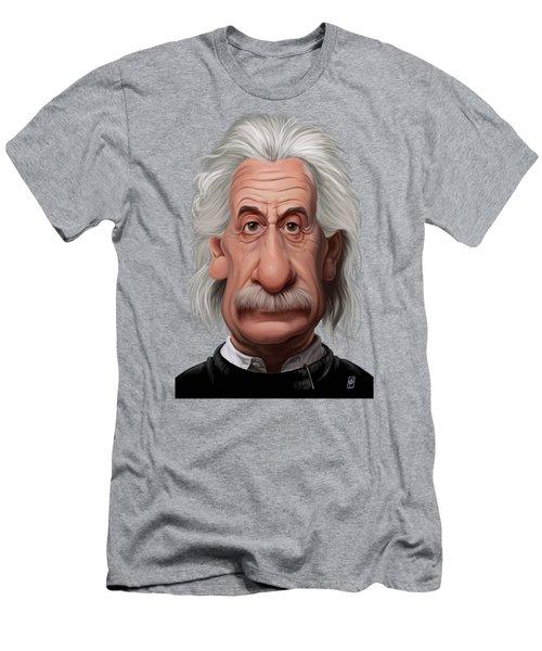 Celebrity Sunday - Albert Einstein Men's T-Shirt (Athletic Fit)