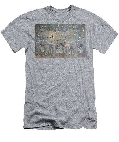 Celestial Cow Men's T-Shirt (Athletic Fit)