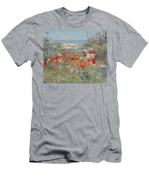 Celia Thaxter's Garden, Isles Of Shoals, Maine Men's T-Shirt (Athletic Fit)