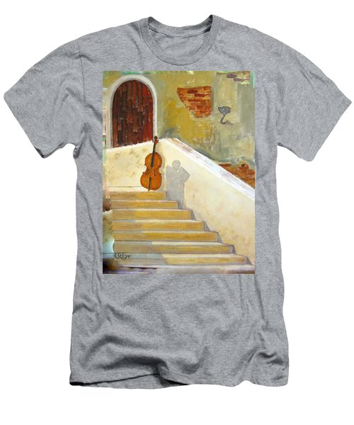 Men's T-Shirt (Athletic Fit) featuring the painting Cello No 3 by Richard Le Page