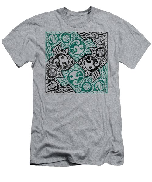 Celtic Puzzle Square Men's T-Shirt (Athletic Fit)