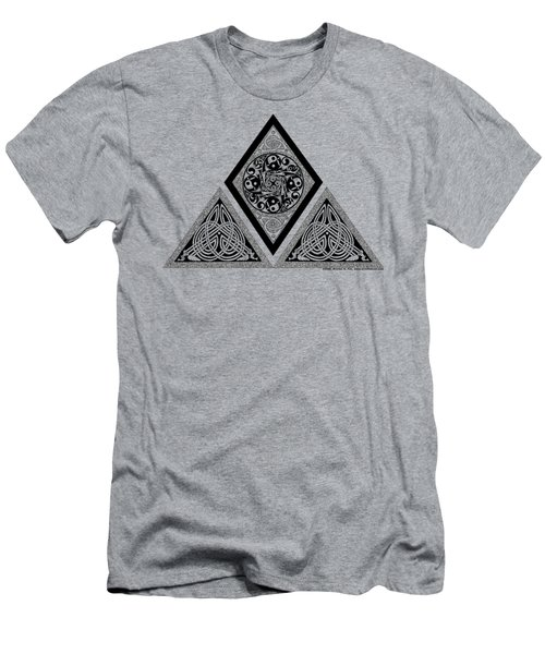Men's T-Shirt (Slim Fit) featuring the mixed media Celtic Pyramid by Kristen Fox