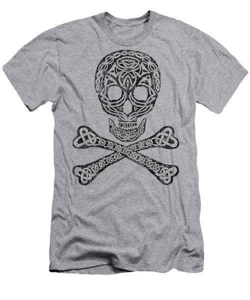 Celtic Skull And Crossbones Men's T-Shirt (Athletic Fit)