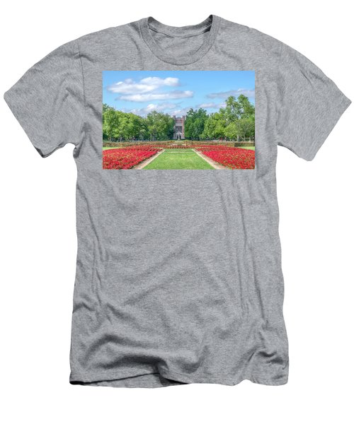 Central Grounds And Gardens At University Of Oklahoma Men's T-Shirt (Athletic Fit)
