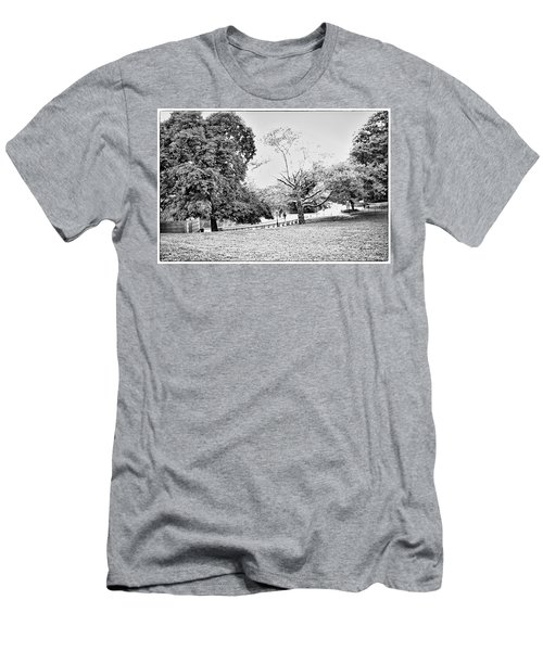 Men's T-Shirt (Slim Fit) featuring the photograph Central Park In Black And White by Madeline Ellis